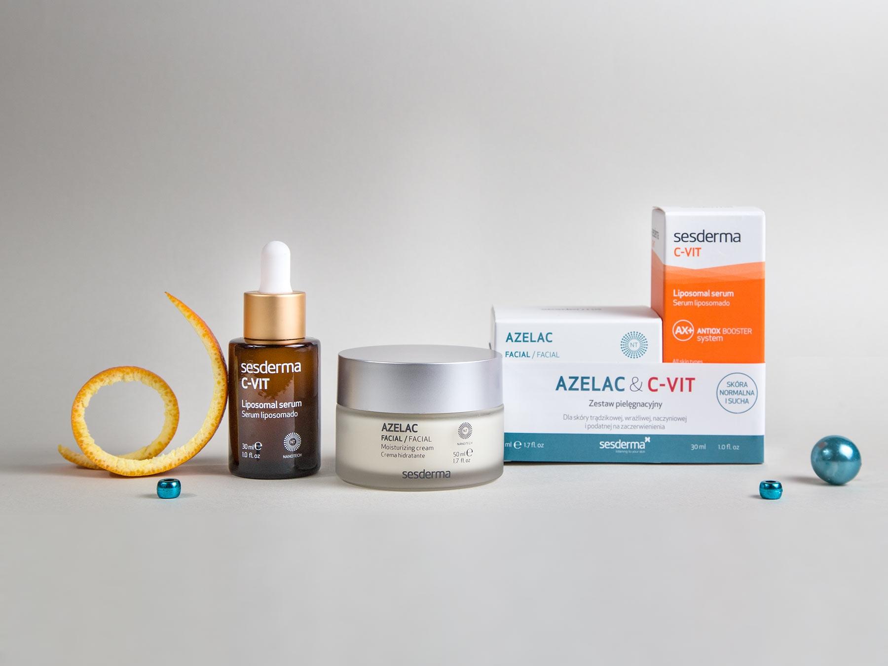 AZELAC Krem + C-VIT Serum 50 ml + 30 ml