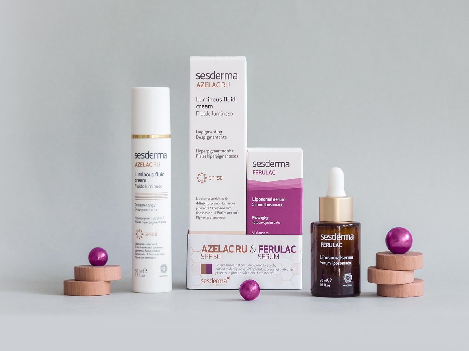 AZELAC RU SPF50 + FERULAC serum 50 ml + 30 ml