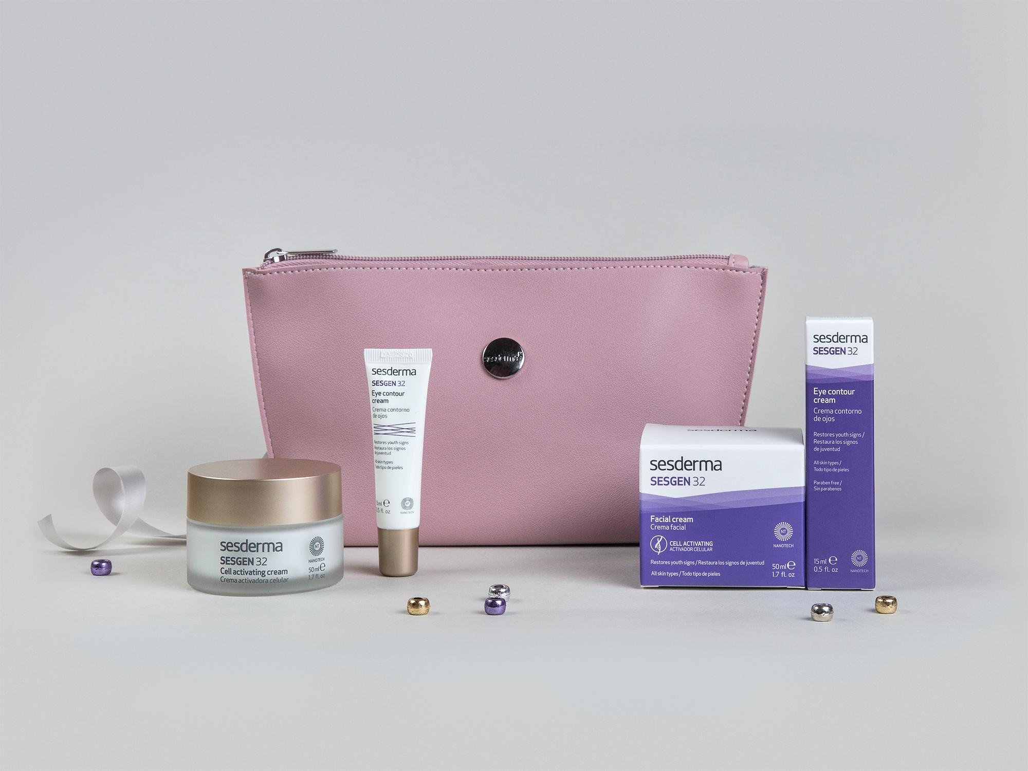 SESGEN 32 Krem odżywczy aktywujący komórki (50 ml) + Krem kontur oczu (15 ml) + kosmetyczka