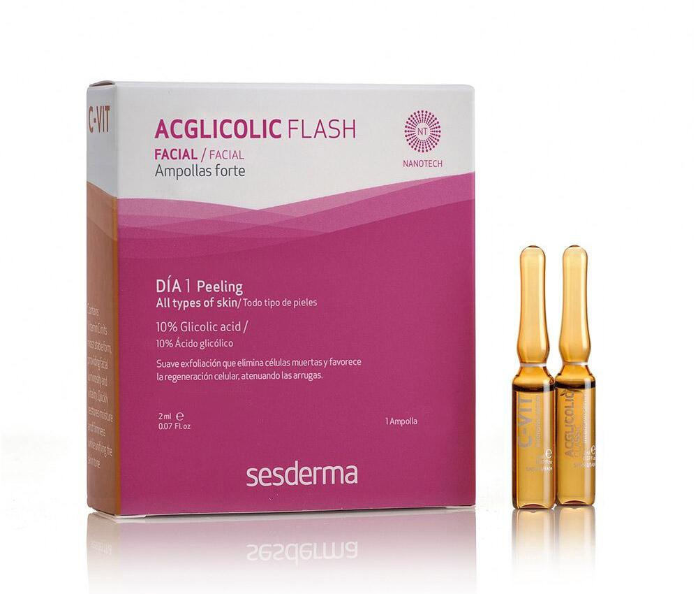 EFEKT FLASH 1 - Acglicolic (2 ml) + 1 x C-VIT 12% (2 ml)